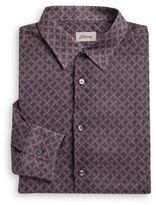 Brioni Printed Italian Cotton Sportshirt