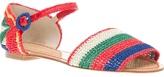 Dolce & Gabbana raffia striped sandal