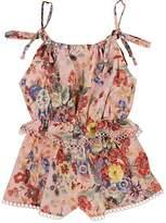 Zimmermann Kids' Lovelorn Floral Cotton Romper