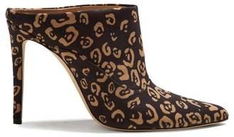 Altuzarra Davidson Leopard Print Mules - Womens - Black Multi