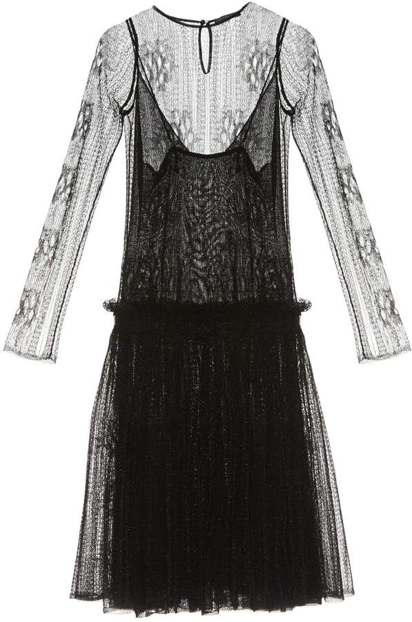 Alexander McQueen Dropped-waist lace dress