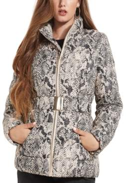 GUESS Lexie Faux-Leather Puffer Coat