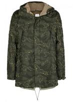 C.p. Company Camouflage-jacquard Parka