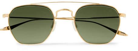 Barton Perreira Doyen Aviator-Style Gold-Tone Titanium Sunglasses - Men - Gold