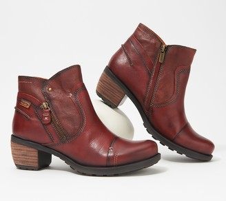 PIKOLINOS Leather Side Zip Ankle Boots