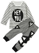 "XUNYU Baby Boys Infant Spring Autumn Long Sleeve ""Hey you"" T-shirt Pants Outfit"