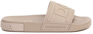 Dolce & Gabbana Embossed Logo Rubber Beachwear Slides