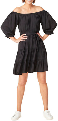 French Connection Off Shoulder Belted Dress