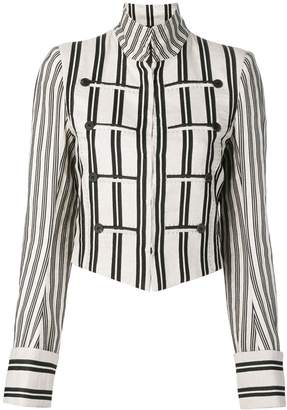 Ann Demeulemeester striped print cropped jacket