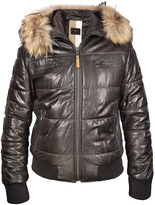 Forzieri Brown Fur-trim Bomber Jacket