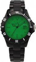 LTD Watch Unisex Limited Edition Core Black Watch LTD 030902 With Black Bracelet, Bezel With A Green Lens