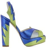 Terry De Havilland Women's Blue/green Leather Sandals.
