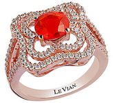 LeVian Fire Opal, Vanilla Diamond and 14K Rose Gold Ring 0.71 TCW
