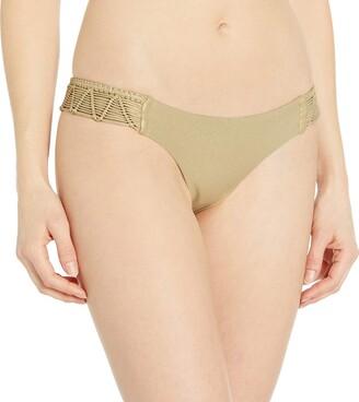Luli Fama Women's Heart of A Hipipe Weave Moderate Bikini Bottom
