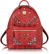 MCM Stark Small Ruby Red Backpack