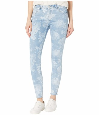 Blank NYC Women's Floral Printed Five Pocket Mid Rise Skinny Jeans