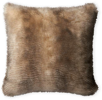 Loloi Black & Cream Faux Fur Decorative Pillow