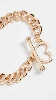 Stella + Ruby Chain Bracelet Heart Clasp