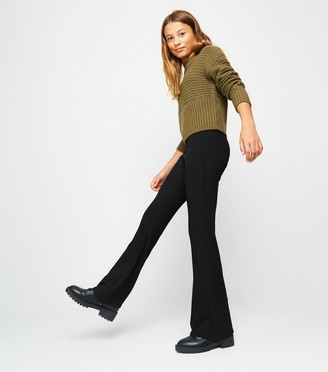New Look Girls Ribbed Flared Trousers
