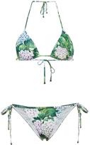 Dolce & Gabbana Ortensia Hydrangea Print Triangle Bikini