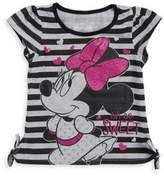 Nannette Little Girl's Tied Stripe Minnie Mouse Tee