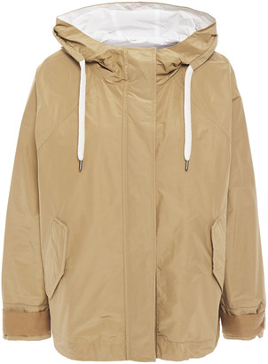 Brunello Cucinelli Bead-embellished Shell Hooded Jacket