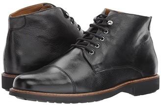 Massimo Matteo 5-Eye Chukka Cap Boot (Black) Men's Lace-up Boots