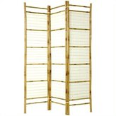 Oriental Furniture Tropical Beach Furniture, 6-Feet Burnt Bamboo with Rice Paper Japanese Privacy Screen Room Divider