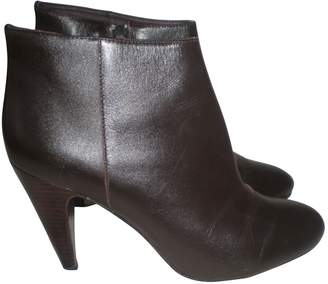 Pollini \N Brown Leather Ankle boots