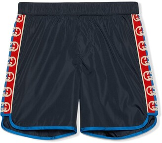 Gucci Kids interlocking G swim shorts