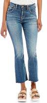 Silver Jeans Co. Izzy High Rise Super Stretch Raw Hem Ankle Kicker Jeans