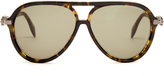Alexander McQueen Oversized skull-hinged aviator sunglasses