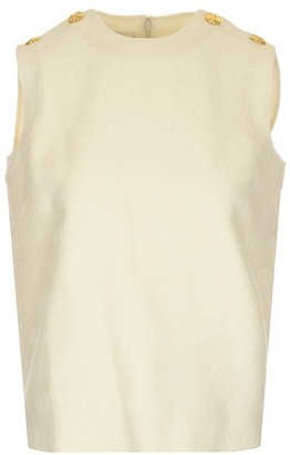 Gucci GG Sleeveless Button Detail Top