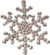 XY Fancy Crystal Rhinestone Large Snowflake Wedding Bridal Brooch Pin