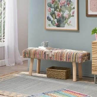 Bungalow Rose Horris Upholstered Bench