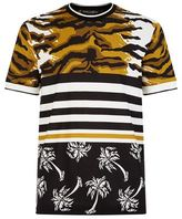 Dolce & Gabbana Leopard Print And Palm Leaf T-shirt