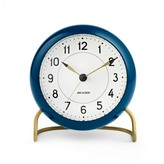 Arne Jacobsen Station Table Clock - Petrol Blue