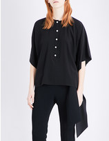 Givenchy Pearl-button silk-crepe top