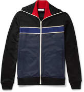 Valentino Cotton-Blend Jersey Zip-Up Sweater