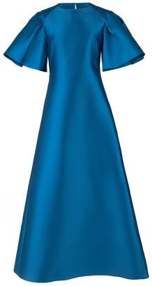 Alberta Ferretti Exaggerated Sleeve Evening Gown