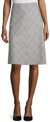 Liz Claiborne Womens Midi Flared Skirt