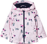 Joules Pink Cat Print Hooded Raincoat