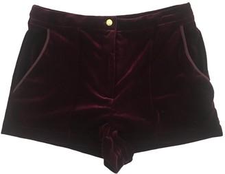 Topshop Tophop Burgundy Shorts for Women