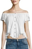 Free People Mint Julep Off-the-Shoulder Tee