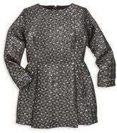 Karl Lagerfeld Toddler's, Little Girl's & Girl's Krazy Party Long Sleeve Brocade Dress