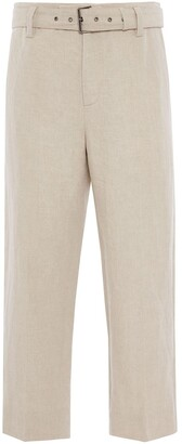 J.W.Anderson belted cropped straight-leg trousers