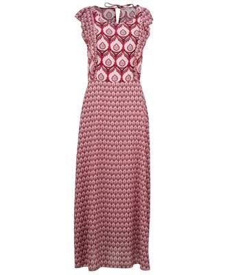 Silvian Heach Tinggi Ruffle Detail Maxi Dress Colour: PINK, Size: SMAL