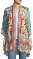 Johnny Was Betimo Embroidered Printed Kimono, Petite