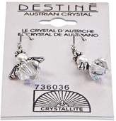 Crystallite Destine Angel Dangle Earrings