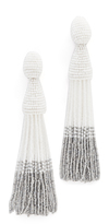 Oscar de la Renta Long Ombre Tassel Clip On Earrings